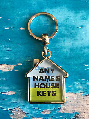 Personalised Keyring - Home - House - Keys - Fob - ANY NAME - Change wording