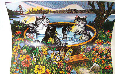 Kliban Cat Wall Calendar 2003 12 Months of Feline Colored Pictures 13 x 12 Inch