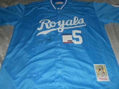 best loved 38020 4af38 GEORGE BRETT AUTOGRAPHED Jersey PSA/DNA COA Authentic MLB ...