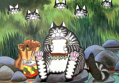 2015 Kliban Cat Wall Calendar 12 Months of Feline Colored Pictures 7 x 7 Inches