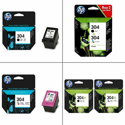 Genuine HP 304 / 304XL / Black / Colour Ink Cartridges For DeskJet 2632 Printer