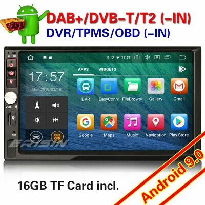 Double DIN Android 9.0 DAB+ Car Stereo Head Unit GPS Bluetooth WIFI DTV TPMS RDS