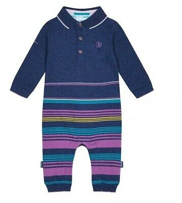 Ted Baker - Baby boys' multicoloured striped print romper suit BNWT 0-3