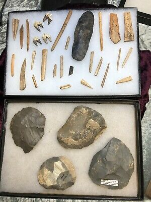 Crib Mound Collection Spencer County, Indiana Arrowheads Bone Indian Artifacts