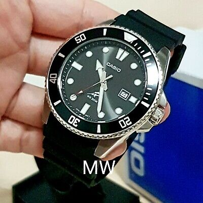 Casio New Original MDV-106-1AV 200M Duro Analog Mens Watch Black MDV-106 MDV106