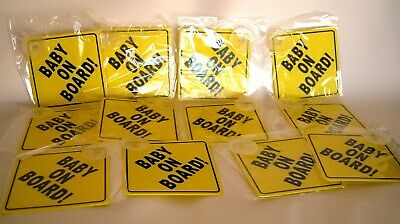 X12 Baby On Board Sign Child Vehicle Window Safety hard plastic job lot