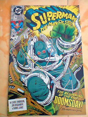 Saga Morte Superman Man Of Steel 18 Prima Apparizione Doomsday Dc Usa 1992