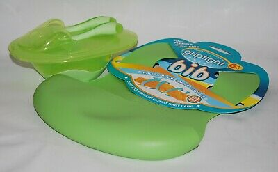 Griptight, Baby Weaning Set, Bundle, Bib, Bowl, Spoon, Fork, Green