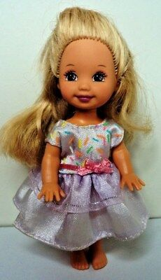 BIRTHDAY PARTY KELLY Doll Mattel Barbie baby sister in original PARTY DRESS