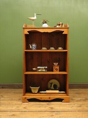 Victorian Pine Bookcase Shelves, Narrow Alcove Shelves, Country Cottage piece