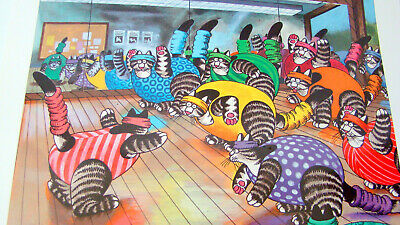 2007 Kliban Cat Calendar 12 Months of Colored Feline Pictures 13 x 12 Inches