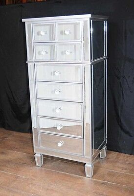 Art Deco Mirror Chest Drawers Tall Boy Mirrored Furniture