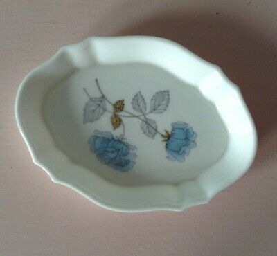 WEDGWOOD ICE ROSE Bone China Trinket Dish - Excellent Condition