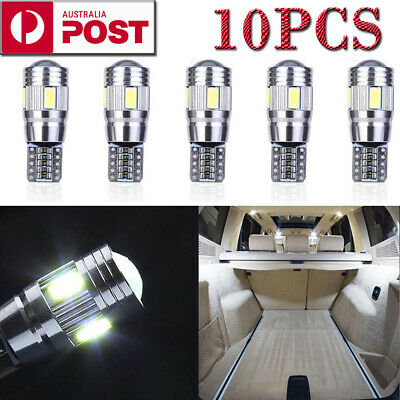 10X T10 LED 6SMD W5W 5630 168 194 12V Car Wedge Dash Canbus Parking Side Light A