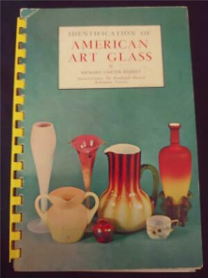 1964 Signed Identification Of American Art Glass By Richard Carter Barret Book