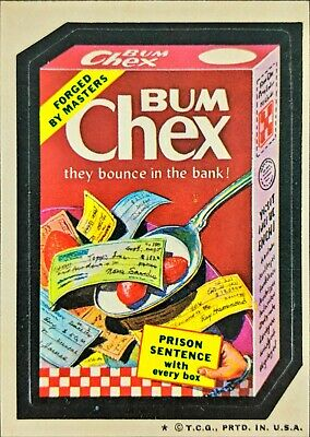 1974 Topps Wacky Packages BUM CHEX Series 4 Tan Back