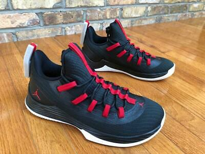 watch 75b85 2e64b Mens Jordan Ultra Fly 2 Low AH8110-001 Black University Red NEW Size 10