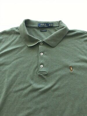 a0be78efe Ralph Lauren Mens Olive Green Polo Shirt Size XX-Large XXL 2XL Classic Fit