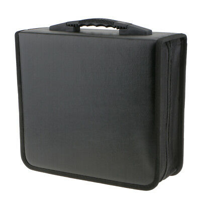 Portable 400 Disc CD VCD DVD Storage Bag PU Leather Wallet Holder Case Box