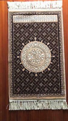 Carpet door the Prophet's Mosque Wool Prayer Rug Tapestry ORIENTAL ANTIQUE Nu3