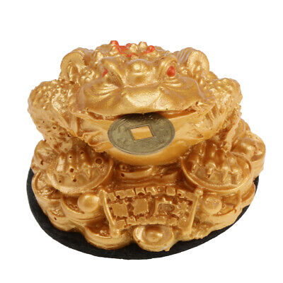 Chinese Traditional Money Lucky Fortune Three Legged Frog Toad Coin Ornament