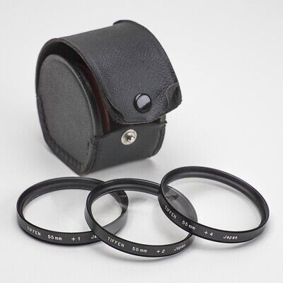 TIFFEN CLOSE-UP LENS DIOPTERS 55mm SET OF THREE WITH CASE