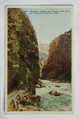 Shoshone Canyon & Tunnel, Cody Road Yellowstone Park 1929 Postcard