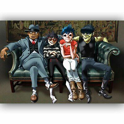 New Gorillaz Let Me Out Custom Personalized Silk Poster Wall Decor
