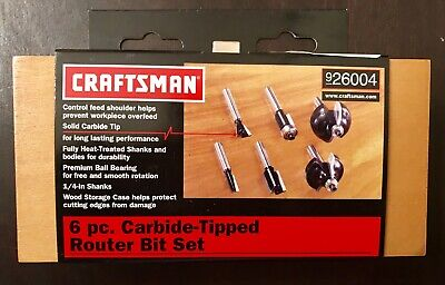 CRAFTSMAN 5//8 IN ROUNDOVER CORNER ROUND CARBIDE ROUTER BIT NEW 964230 FREE SHIP!