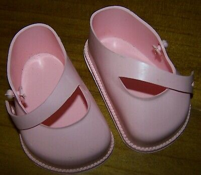 CINDERELLA PINK STRAP SHOES FROM 1950's ERA - NEW OLD STOCK - SIZE 4