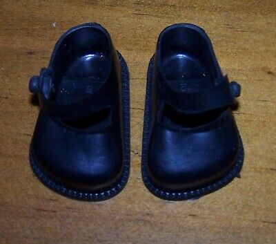 CINDERELLA BLACK STRAP SHOES FROM 1950's ERA - NEW OLD STOCK - SIZE 03