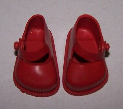 CINDERELLA RED STRAP SHOES FROM 1950's ERA - NEW OLD STOCK - SIZE 03