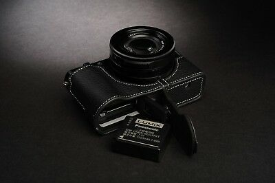 Genuine Real Leather Half Camera Case Bag Cover for Panasonic LX100 II M2
