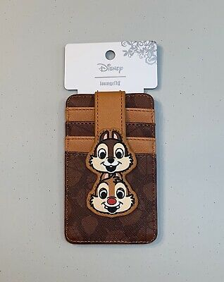 0854a7e7d44 Loungefly Disney Chip  N Dale Acorns Cardholder and ID Card Wallet New