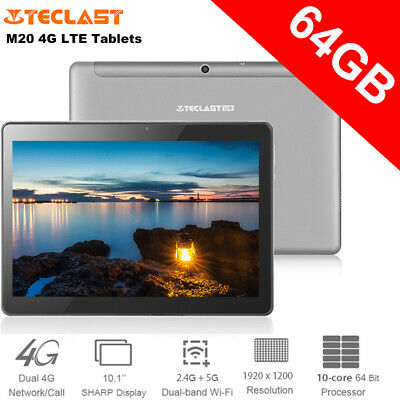 """Teclast M20 10.1"""" Tablet PC Notebook 4GLTE DecaCore 4G 64G 2560x1600 Android 8.0"""