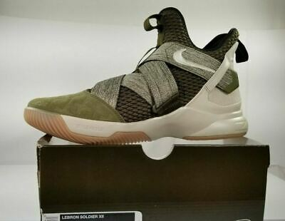 9543b3f30cfd New Nike Men s Size 11.5 Lebron Soldier XII 12 Olive Green AO2609-300 Land