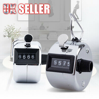 High Quality Tally Counter Hand Held 4 Digit Number Clicker Manual Sale