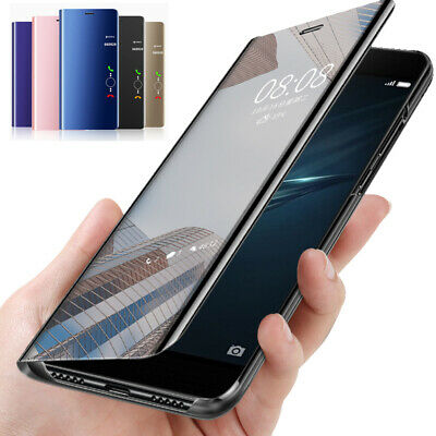 For Samsung Galaxy Note 10 Plus 9 8 5 Clear Mirror Leather Flip Stand Case Cove