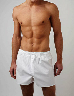 Sunspel Vintage Classic Plain Boxers 100% Cotton (White or Light Blue available)