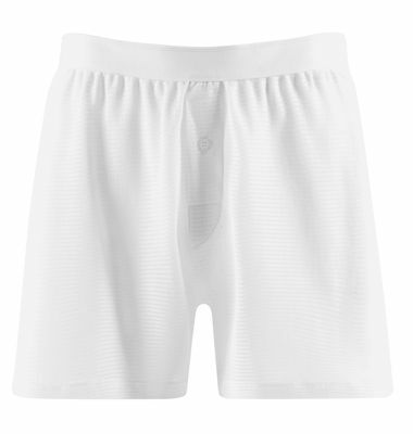 Sunspel Vintage Cellular White Classic Shorts 100% Cotton