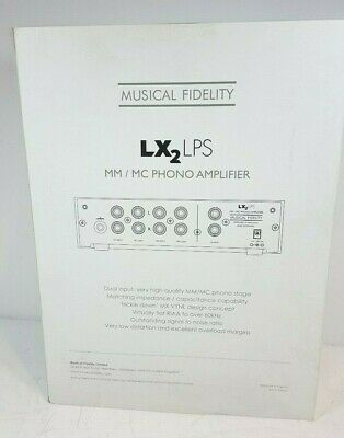 Musical Fidelity LX2-LPS MM/MC Phono Stage Pre-Amplifier - BLACK - New in Box