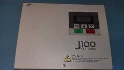 Hitachi J100 IGBT Inverter,1.5 kW,400-460V,60 Hz,380-415V,50Hz,J100 015hfe, Used