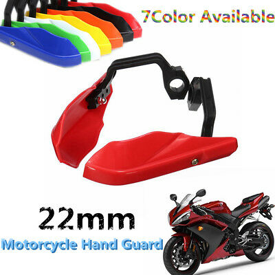 2x Motorcycle Motorbike 7/8'' 22mm Brush Hand Guards Handlebar ATV Dirt Pit Bike