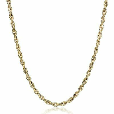 """Eternity Gold Glitter Chain Necklace in 10K Gold, 20"""""""