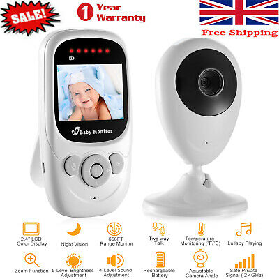 Wireless Video Baby Monitor with Security Camera 2 Way Talk IR Night Vision Zoom