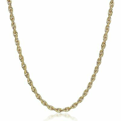 """Eternity Gold Glitter Chain Necklace in 10K Gold, 18"""""""