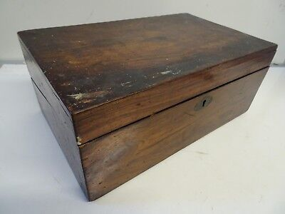 Antique Victorian Mahogany Writing Slope Box for Restoration