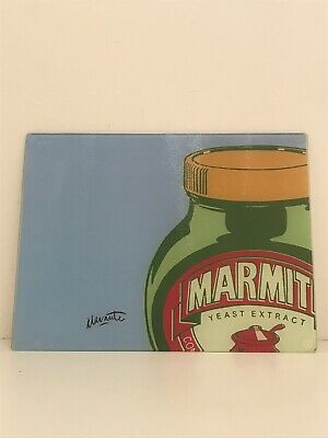 Authentic Official Marmite Toughened Glass Chopping Board / Worktop Saver Rare
