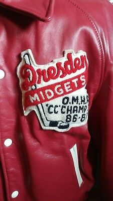 Vintage Dresden O.M.H.A. CC Champs 86-87 Leather Jacket