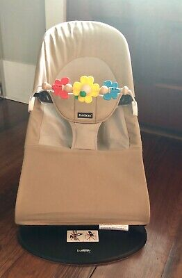 9ecb5912f47 BabyBjorn Balance Soft Bouncer including baby Björn toy bar - Khaki beige